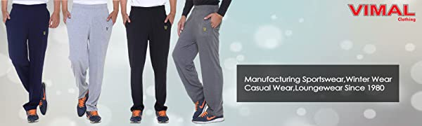 Improve your performance while exercising wearing these navy blue track pants by VIMAL.
