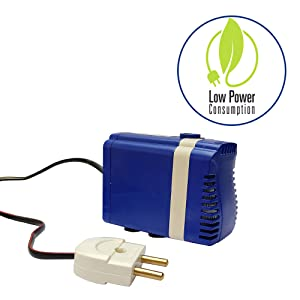 Low electricity consumption