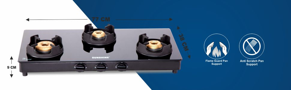 sunshine royal black gas stove