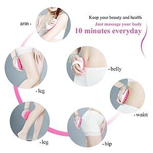 touchbeauty TB-0826B Soft Handheld Relaxing Arm Leg Body Massager Slimmer Brush