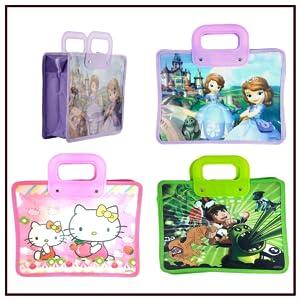 bag tote kids plastic durable gifts birthday cartoon print