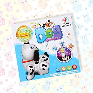 music light dalmatian dog toy cute birthday party gift toddlers