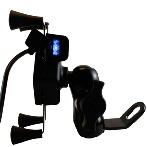 chevik x-grip bike mobile holder mount with usb charger for motorcycle