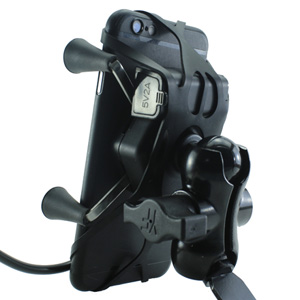 chevik x grip mobile holder with charger waterproof best in india motorcycle mount for royal enfield