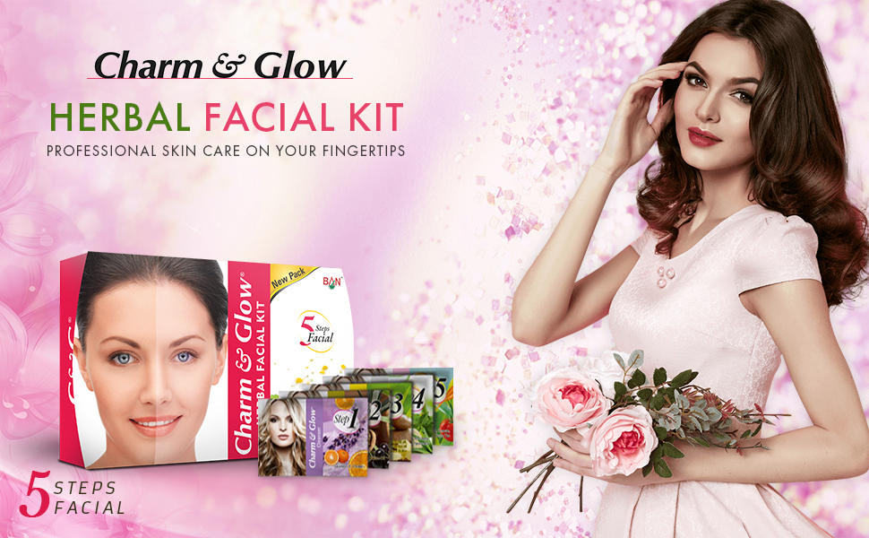 Charm and Glow Herbal Facial Kit