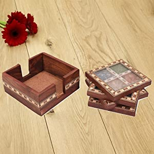 Wooden Gemstone Coasters