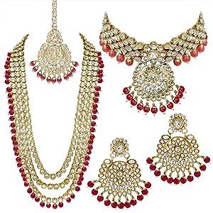 wedding collection, bridal set, red bridal set, dulhan jewellery