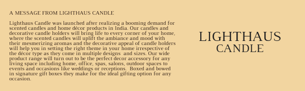 Lighthaus Candle, Candles Online