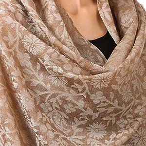 pashtush cashmere scarf shawl floral pashmina