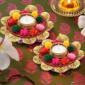 decorative tealight for diwali