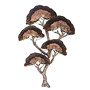 Metal Brown & Gold 3D Japanese Tree