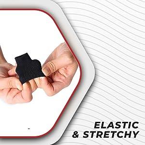 Elastic finger brace