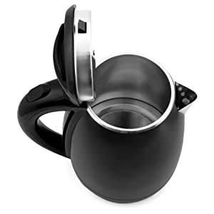 Steel Double Body Black Coated Automatic Electric Kettle