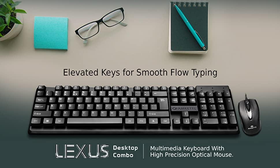 0fd2ba46f16 Amazon.in: Buy Amkette Lexus Multimedia Wired Keyboard and Mouse ...