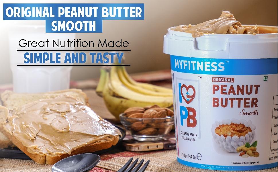 MYFITNESS Original Peanut Butter Smooth 510g