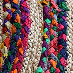 Jute Chindi Rag Recycled Rug