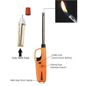 Manoj Sunlight Adjustable Flame Gas Lighter with Gas Refill-