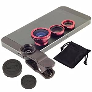 crispy Universal 3 in 1 Cell Phone Camera Lens Kit with Fish Eye Lens Wide Angle Lens and Macro Lens