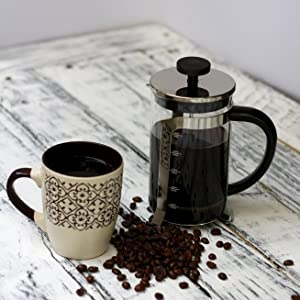 InstaCuppa French Press Coffee Maker with Ample Capacity of 600 ML