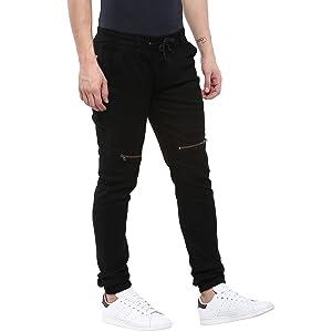 Black jeans; Jeans for men; Black jeans for men; Joggers for men; Zippered Jeans for men