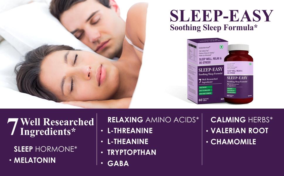 Couple sleeping best sleeping supplement sleeping pill for deep sleep. Melatonin tablets