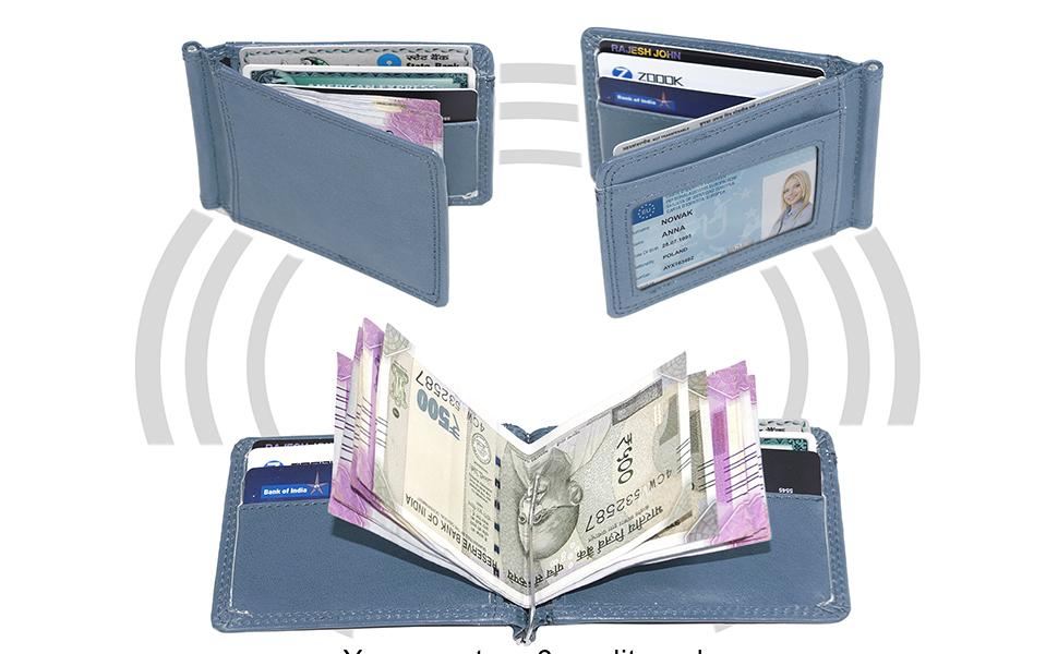 PU Leather Credit Debit ID Card Holder Wallet Case For 24 Cards Pocket Purse US