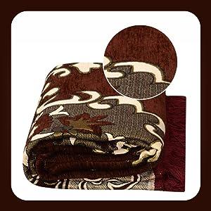 Home Elite Ethnic Velvet Touch Abstract Chenille thin carpet/mat/dari