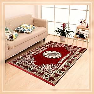 Home Elite Ethnic Velvet Touch Abstract Chenille Carpet