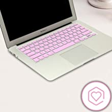 Plastron Backlight See Through Glow in Dark Hollow Letter Keyboard Cover Protector for MacBook