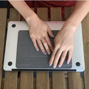 Stick to back side of laptop