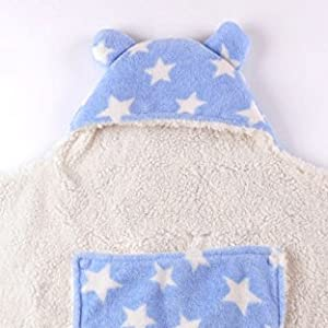 MY NEWBORN Baby Blanket Wrapper Cum Sleeeping Bag -Blue