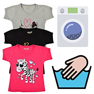 Kuchipoo Girl's T-Shirt (Pack of 5)