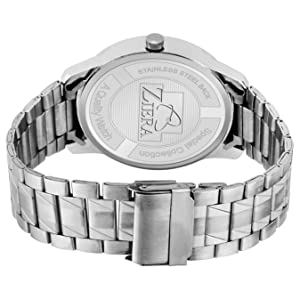 watches wrist watches blue dial ziera day and date stainless steel chain strap silver