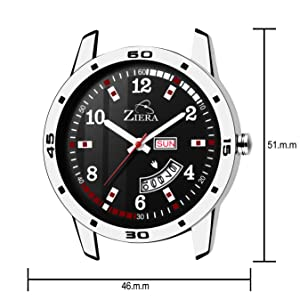under 299 watches men watches wrist watches day and date stainless steel black dial formal
