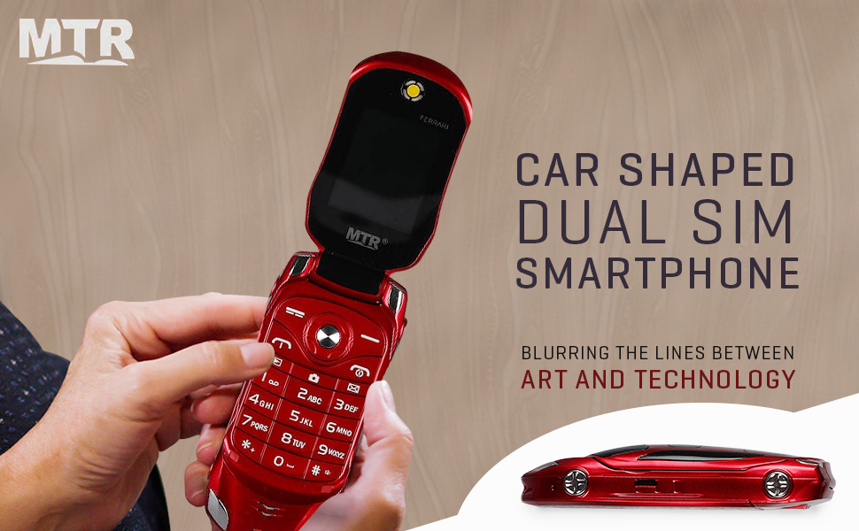 MTR Car Design Keypad Flip Phone with Dual Sim