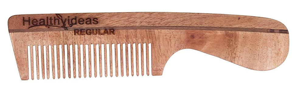regular, daily use, natural, user-friendly, neem wood, wooden comb, smart comb