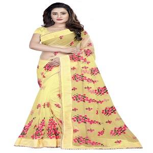 gold net sarees