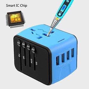 multi mobile smart charge surge protector multi plug socket