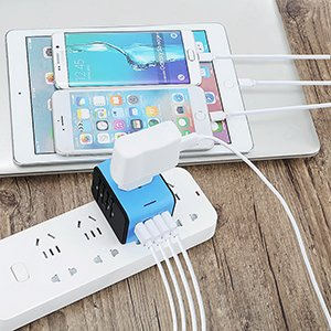 Charge 5 devices at a time All In One Power Adapter Charger iPhone Android