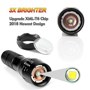 cree zoom zoomable bright torch camoing travelling
