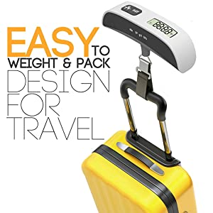 luggage bag weighing weight scale