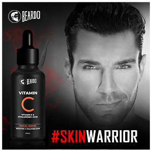 16.	Beardo Vitamin C Facial serum nourishes your skin and removes dark spots.