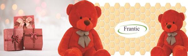 Frantic soft toy teddy bear red