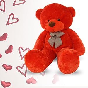 red soft teddy bear plush toy