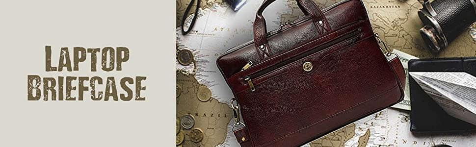 Brown Laptop Briefcase for Men