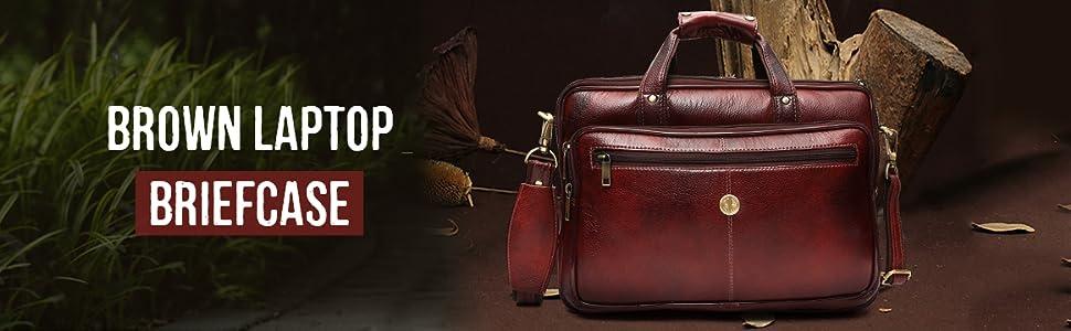 Brown Laptop Briefcase