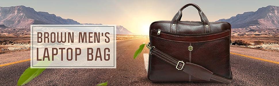 Brown Men's Laptop Bag