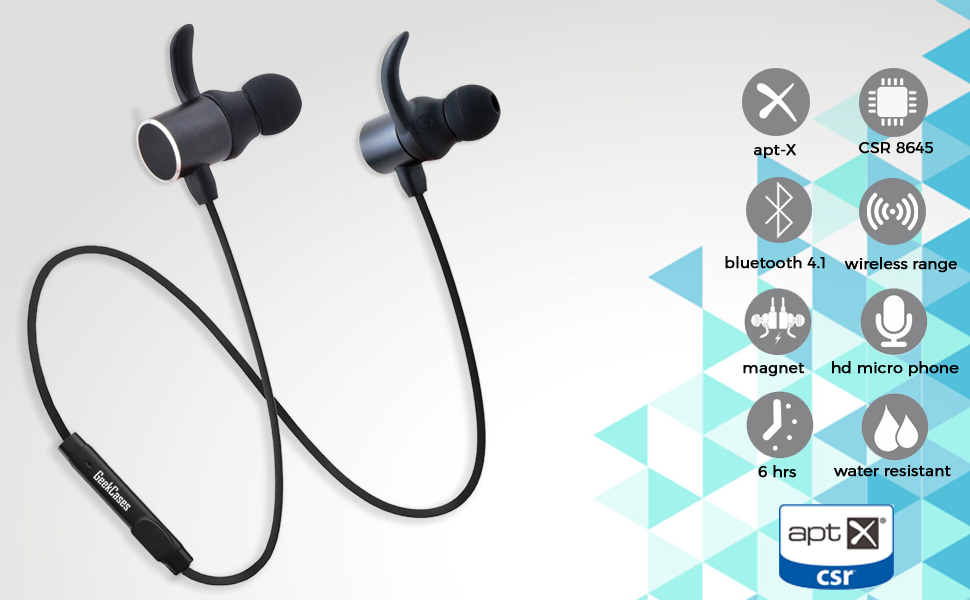d10183d97bb GeekCases Deep Bass Magnetic Bluetooth Earbuds with: Amazon.in ...