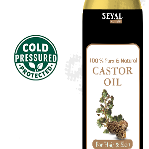 castor oil, pure and natural