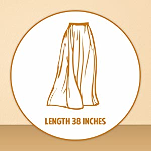 Shararat Women's Long Indo Western Traditional Skirt